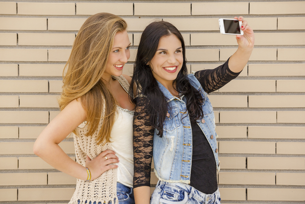 Teens Taking Selfies