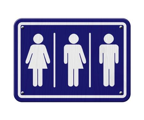 LGBTQ bathroom signage