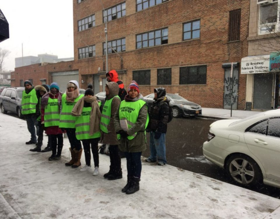 Volunteer escorts welcome women outside Choices and shield them from anti-abortion protesters, rain, snow or shine.