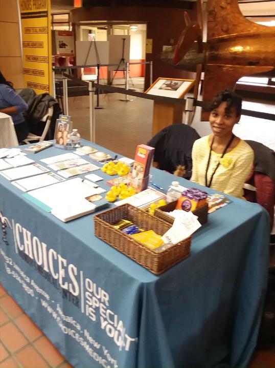 Choices brings sexual health education to York College Health Fair.