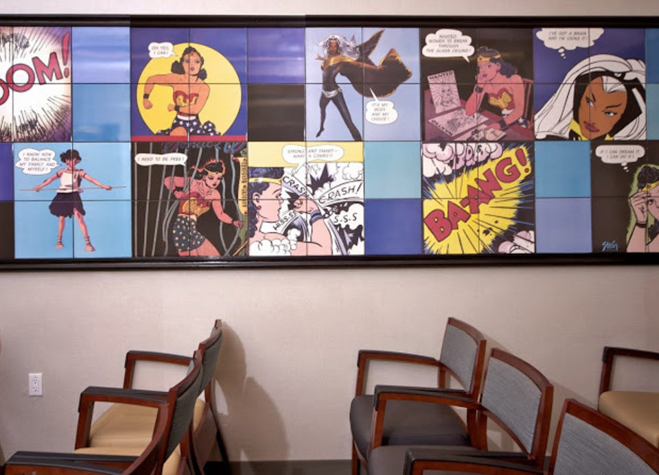 Choices waiting room mural created by Linda Stein