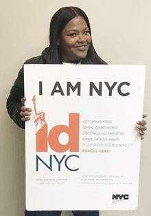 A patient who signed up for her IDNYC after an appointment at Choices.