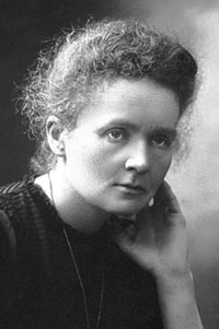 Marie Curie, Choices Women in History for December