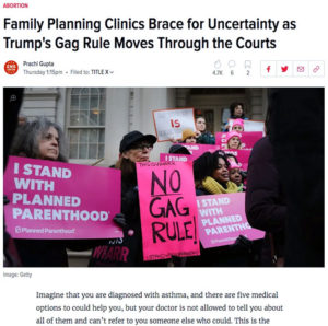 Family Planning Clinics Brace for Uncertainty as Trump's Gag Rule Moves Through the Courts