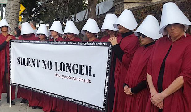 'Handmaid's Tale' Protesters at Golden Globes