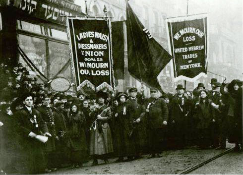 On March 8, 1908, many thousands of women garment workers poured out of New York City's firetrap factories and demanded decent working and living conditions,