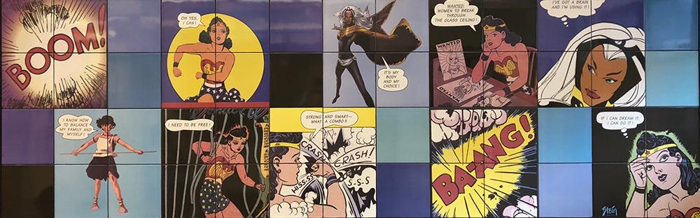 Wonder Woman Painting by Artist Linda Stein