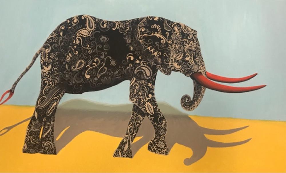 Elephant Artwork by Susan Varo
